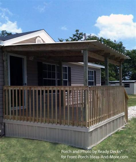 Mobile Home Deck Ideas Pictures by 45 Great Manufactured Home Porch Designs