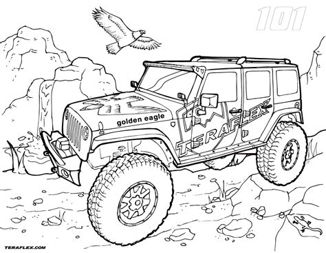 lifted jeep drawing lifted jeep wrangler coloring page pages sketch coloring page