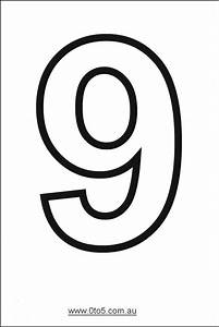 number nine printable template numero 9 grafia y With number 9 cake template