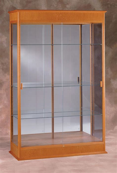 glass cabinet lighting this display cabinet mirrors awards and trophies in 1224