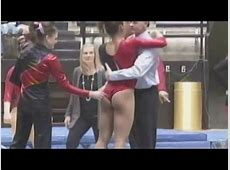 Gymnast gets wedgie warning from teammate HipHopGrindTV