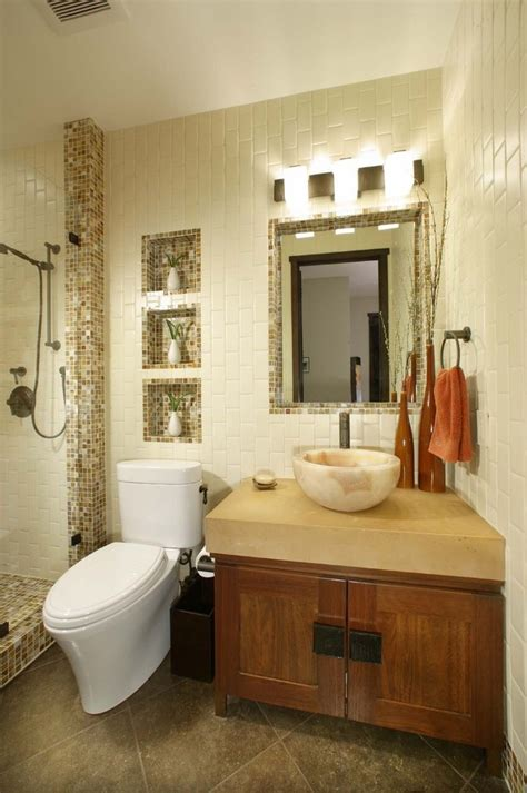pleasing recessed toilet paper  vessel sink bathroom