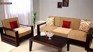 Wooden sofa set buy winster 311 seater sofa set online for 7 seater sectional sofa set
