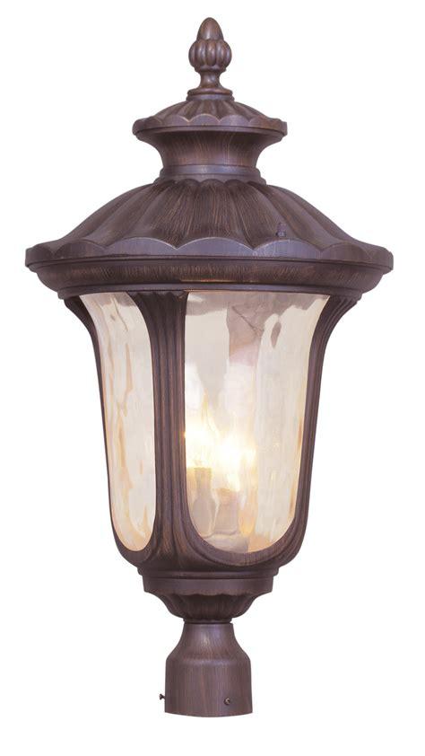 livex lighting 7664 58 oxford outdoor post mount fixture