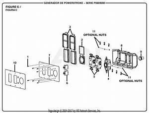 Homelite Ps905000 Powerstroke 5 000 Watt Generator Parts Diagram For Figure C