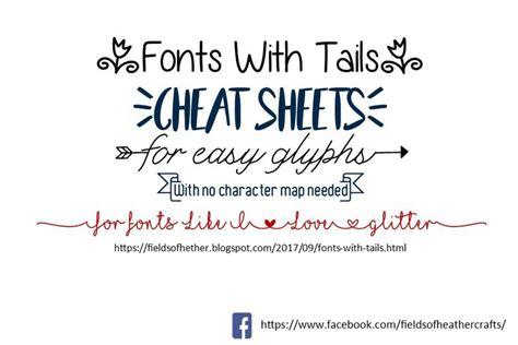 fonts  tails glyphs cheat sheet samantha font glyphs cricut fonts