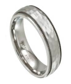 hammered wedding band 39 s stainless steel wedding band artisan hammered finish 7mm