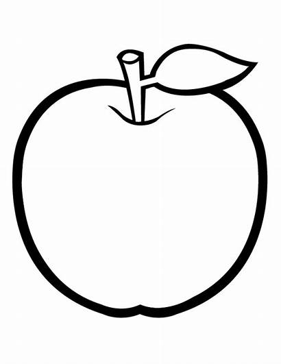 Apple Coloring Pages Mau To Sach Non