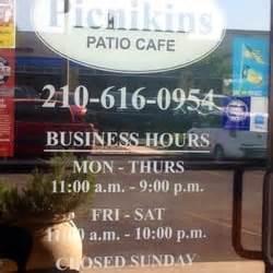 picnikins patio cafe san antonio tx 78249 picnikins patio cafe san antonio tx united states hours