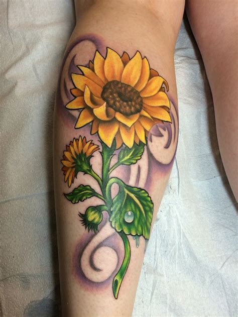 sunflower tattoo designs images  pinterest