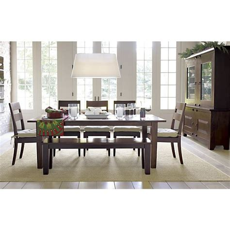 crate and barrel basque dining room set basque java 82 quot dining table