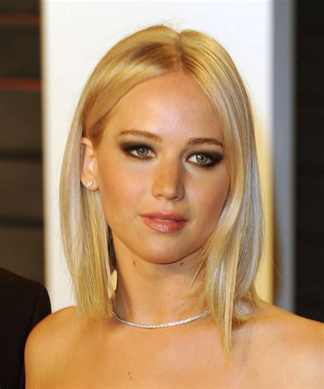 jennifer lawrence medium straight light champagne blonde