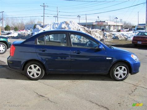 2007 Hyundai Accent by Sapphire Blue 2007 Hyundai Accent Gls Sedan Exterior