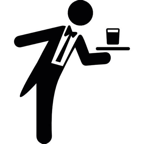 croquis cuisine serveur servant un verre sur un plateau télécharger