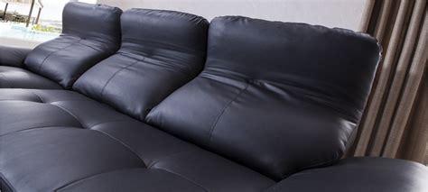 canapé d angle convertible cuir noir canapé d 39 angle gauche convertible cuir noir mezzio