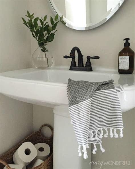 half bathroom ideas with pedestal sink best 25 half bath decor ideas on