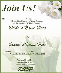 8 free wedding invitation templates excel pdf formats With make your own wedding invitations free download