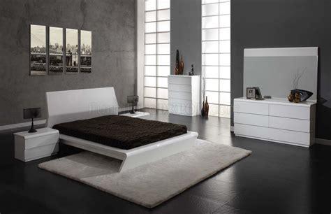 white high gloss finish modern bedroom woptions