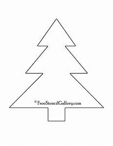 Christmas, Tree, Stencil, 19