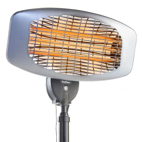 electric patio heaters vonhaus 2kw free standing electric infrared indoor
