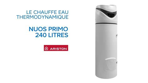 chauffe eau thermodynamique nuos primo 240 litres ariston castorama