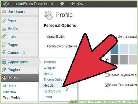 How To Change The Header In A Wordpress Blog 6 Steps