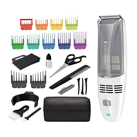 remington hc color comb vacuum haircut kit vacuum trimmer hair