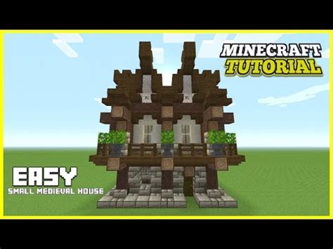 minecraft   build  small medieval house tutorial easy survival minecraft house