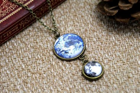 Buy 12pcs/lot Earth And Moon Necklace