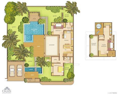 chambre de villa villas oasis 1 à 3 chambres ile maurice