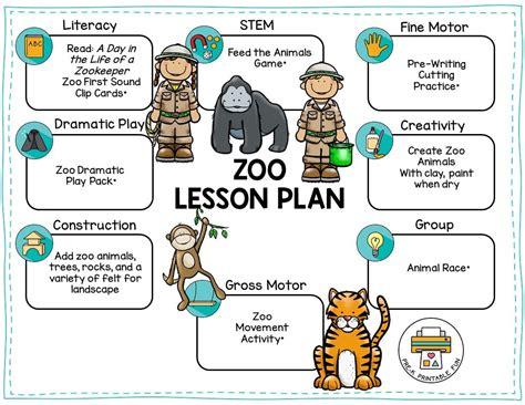 zoo animals pre k printable 318 | zoo preschool lesson plan orig