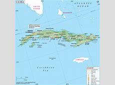 Map of Cuba, Cuba Map