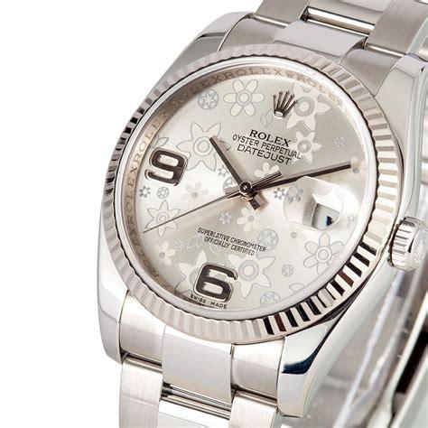Rolex Datejust 116234 Silver Floral Motif Dial