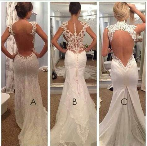 Open Back Wedding Dresses Wedding Pinterest Open
