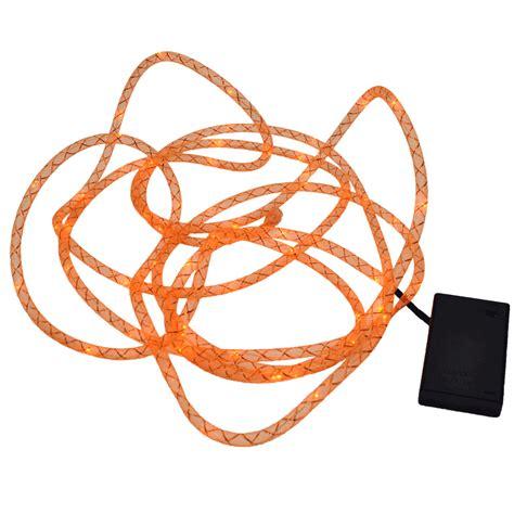 orange rope lights orange mesh rope light 15 foot