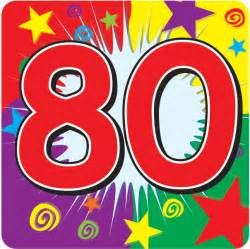 80 Birthday Clip Art