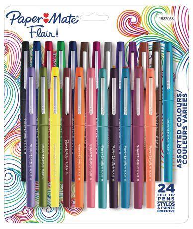 bureau service canada stylos à pointe en feutre flair de paper mate à pointe