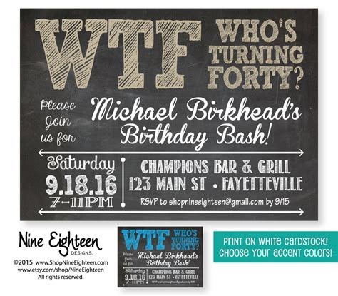 40th Birthday Party InvitationWho's Turning by
