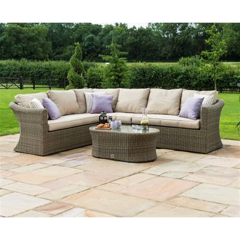Maze Rattan Corner Sofa Set by Maze Rattan Furniture Winchester Large Corner Sofa Set Win