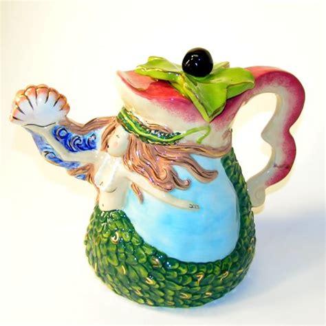 Mermaid Teapot Bath Set by Household Collectible Items On Tea Pots