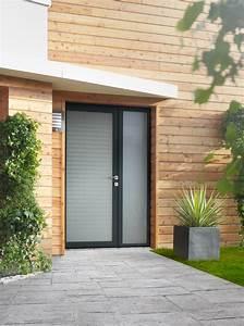 Porte Entree Vitree : installation de porte d 39 entr e vitr e mixte alu bois ~ Dode.kayakingforconservation.com Idées de Décoration