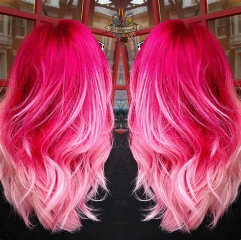 Hot Pinkbaby Pink Ombre Hair ♡ Hair Ideas In 2019