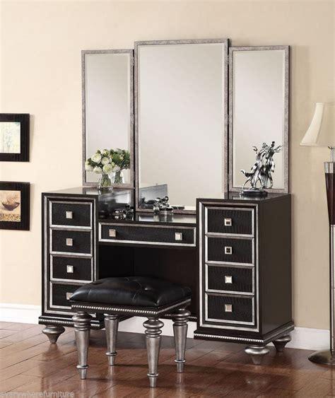 Bedroom Vanity Furniture by Regency Glam Mirrored Console Cabinet Vanity