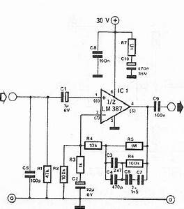 lm387 dynamic microphone preamplifier circuit design With simple microphone preamplifier circuit can use between your microphone