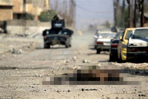 Streets Fighters of the West Bodies of Isis Mosul Litter