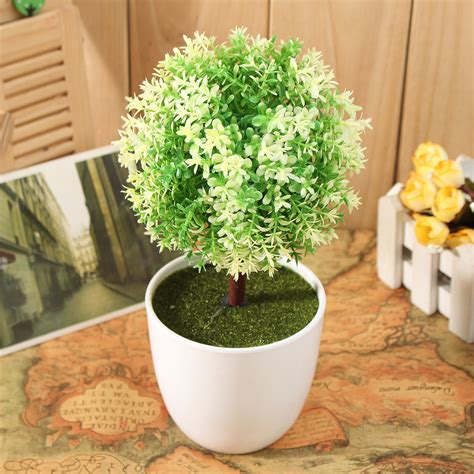 Artificial Topiary Tree Ball Plants Pot Garden Home Office