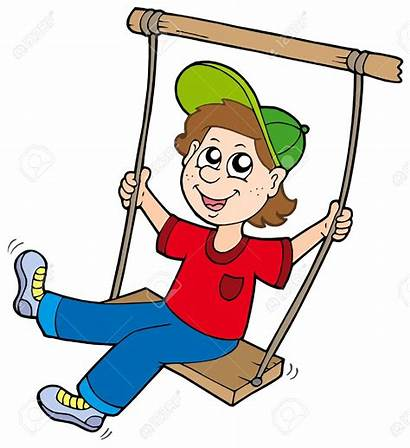 Swing Clipart Boy Clipartpanda Cartoon Children Illustration