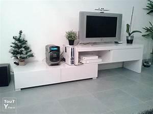 Alinea Meuble Salon : meuble tv laqu blanc alin a modulable uchaud 30620 ~ Teatrodelosmanantiales.com Idées de Décoration