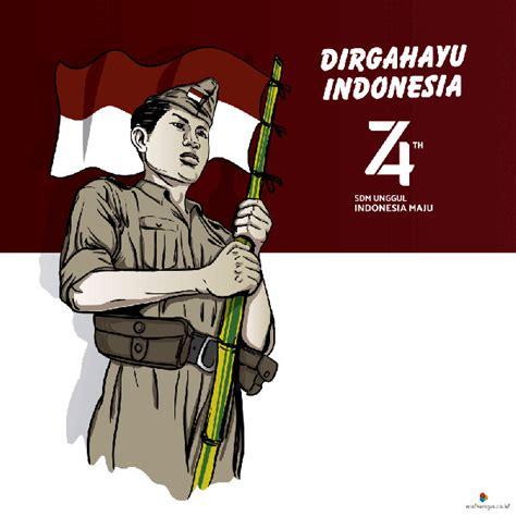 contoh desain poster hut kemerdekaan indonesia
