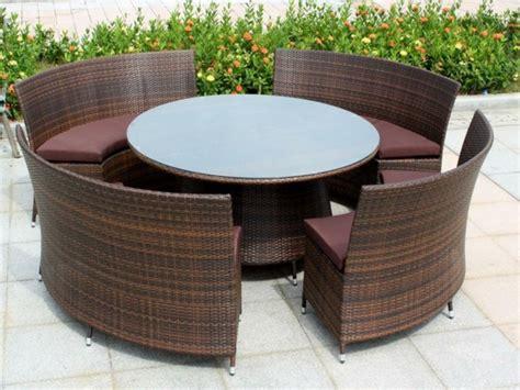 polyrattan lounge rund outdoor m 246 bel aus polyrattan best 228 ndige gartenm 246 bel